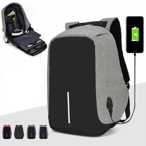 Противоугонная рюкзак сумка 15,6-дюймовый портативный ноутбук Mochila Мужской Водонепроницаемая Back Pack Backbag большой емкости Школа Рюкзак SH190918