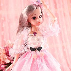 BJD Doll, 1/4 Poupées SD 18inch 18 Boule Articulé Poupées avec des vêtements Outfit Shoes perruque maquillage cheveux meilleur cadeau pour les filles Accessoires