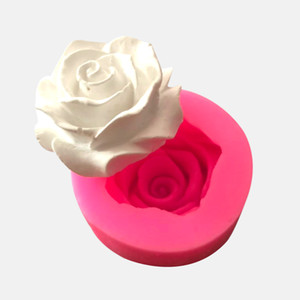 3 D Flower Bloom Rose Shape Silicone Mold Handmade Soap chocolate fondant Cake kitchen Baking Wedding Decorating dessert Tools