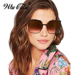 wholesale 2018 Oversized Metal Square Sunglasses Cool Men Women Retro Vintage Big Frame Sun Glasses Shades oculos OM343