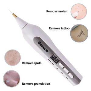 9 مستوى قابلة للشحن الفيبراست البلازما القلم الجفن رفع الوجه النمش الخلد البثرة العلامات إزالة آلة العناية بالبشرة بقعة إزالة الوشم