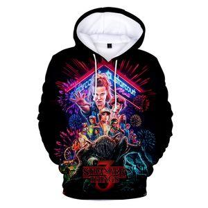 Stranger Things Season 3 3D Printed Women men Hoodies Sweatshirts Boys girls Upside Down Eleven Long Sleeve Funny Hooded Jacket