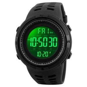 SKMEI Moda deporte al aire libre hombres del reloj de los relojes multifunción Reloj despertador Chrono 5bar impermeable reloj digital reloj hombre 1251