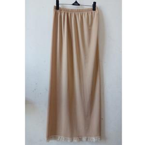 Beleg Halb Beleg Underskirt Unterwäsche 2019 vollen festen Femme Frauen-Dame-Long-Wäsche lose Petticoat Damen Modal Elastic Slips