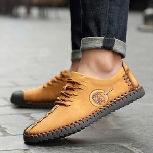 Moda Casual Deri ayakkabı erkekler Yumuşak Sole Makosenler Yumuşak Deri Dantel-up KPOCCOBKN Ayakkabı ayakkabı erkekler loafer'lar