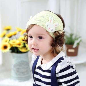 Sommer-dünner Abschnitt Baby-Hut Kult Mädchen Baby-Perücke-Kappe Spitze leeren Top Newborn CHILDREN'S Nursing Fontanelle Beanie