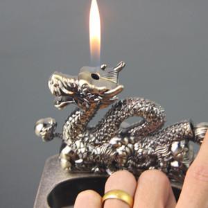 Dragão Cinzeiro Cinzeiro Com recarregáveis Gas Isqueiro Smoking Acessórios Decoração criativa Ash SH190926 bandeja