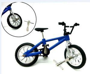 Aleación de mini motos Finger Diecast juguetes de escritorio de bicicletas Modelo Juguetes Mini dedo de bicicletas para los niños Juguetes de Navidad Decoración de coches Diecast Model Cars