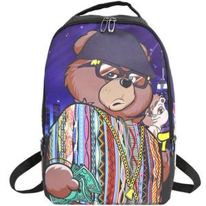 2020 Nuovo Biggie orso zaino Cool zainetto Via zainetto borsa scuola Spray zaino Sport Outdoor giorno pacchetto