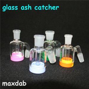 3,2 Zoll Glas Bong Aschenfänger 14mm 18mm Dickes Pyrex Glas Bubbler Aschenfänger 45 90 Grad Glas Aschenfänger Wasserpfeifen
