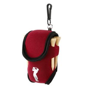 صغيرة كرة الغولف حقيبة البسيطة الخصر حزمة حقيبة 2 الكرة + 4 المحملة النيوبرين حامل الرياضة في الهواء الطلق للجولف التدريب كرات تيز الحقيبة