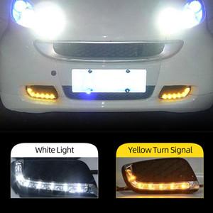 2adet için Mercedes Benz Smart 2008 2009 2010 2011 LED ARAÇ DRL Gündüz Işıklar Daylight Sinyal Sis lambası Sürüş ışık Fortwo