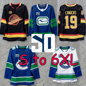 S için 6XL 50th Sezonu Yama Vancouver Canucks Elias Pettersson Bo Horvat Brock Boeser Antoine Roussel Alexander Edler Jake Roussel Forması