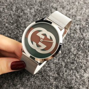 da polso al quarzo di marca orologio per donna Ragazze uomini di fascia d'acciaio del metallo di stile Orologi GUC GU61
