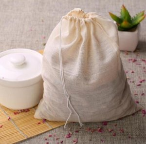 1000pcs NEW Cotton Muslin Drawstring Strainer Tea Spice Fruit Juice Food Separate Filter Bag For Drinking Tea Tools