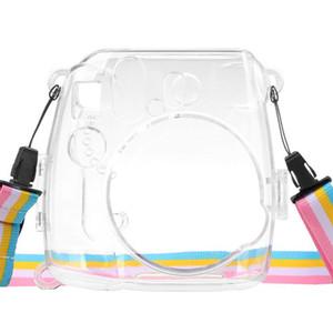 Para Instax Mini 8 9 câmera portátil Transparent Case Cover Dustproof concretas de protecção leve com Strap Anti Impacto # 2