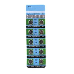 10 pcs / card AG13 Botão Baterias LR44 357 R44 A76 SR1154 LR1154 Moeda Celular Bateria Alcalina 1.55V AG 13