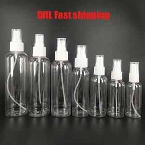 DHL 30/50/60 / 100ml botellas rellenables Travel botella de perfume de plástico transparente atomizador Vacío pequeña botella de spray tóxico libre y seguro