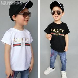 2019 nouvelle marque de luxe Summe Hot 1-9 ans Bébés garçons filles T-shirts r shirt Tops en coton enfants T-shirts enfant Vêtements 2 couleurs oferde