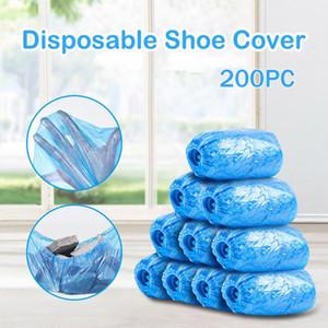 Portátil desechable 200 Paquete de zapatos Covers higiénico impermeable a prueba de polvo cubierta de arranque para el lugar de trabajo cubierta de alfombras LW