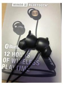 Nueva Marshall Minor II Bluetooth auriculares Auriculares Wireless DJ Perfect Sound Auriculares Pausa Magnética Función Deportes auriculares 10pcs DHL