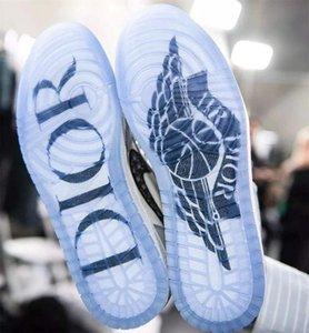 Air Diòr X Air Jòrdàn 1 Oblique Hommes FEET AJ Zoom R2T Racer Blue Retro High Premium Baskets Triple S High TOP basketball Shoes