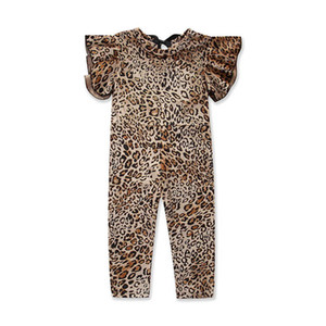 Ins 2020 leopard print baby girls jumpsuit toddler jumpsuit baby rompers baby girl clothes Girls One Piece Clothing toddler trousers B804