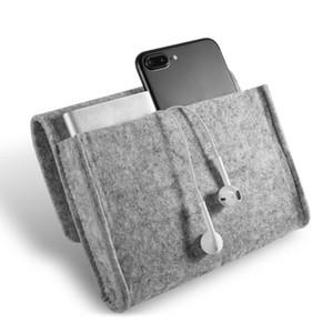화장품 가방 홈 스토리지 조직 키 코인 패키지 미니 펠트 파우치 이어폰 SD 카드 전원 은행 데이터 케이블 여행 주최자