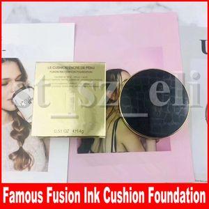 Знаменитые 2 цвета для лица Le Cushion Encre De Peau Коллекционер Fusion Ink Cushion Foundation Корректор с слойкой 14г