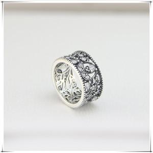 Fashion-Новое высокое качество бренда S925 серебряное кольцо круглое серебряное типа Лепесток кольцо для любителей моды подарок кольцо приходит с мешком для пыли
