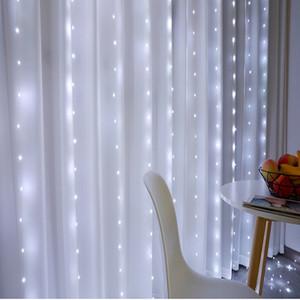fée rideau LED Guirlandes de Noël a conduit décor de fenêtre mariage partie patio chaîne en plein air lumières pour la nouvelle année CresTech