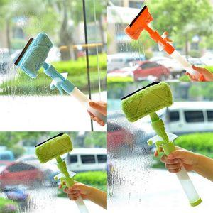 Detergente per vetri a lunghezza regolabile Materiale per stoffa in plastica Detergenti a doppia faccia Spazzole per la pulizia di bicchieri d'acqua verdi e arancioni 7 15cm L1