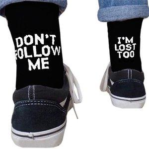 Drop ship мужчины смешные носки Harajuku юмор слово печатные носки лето творческий хип-хоп уличный скейтборд унисекс экипаж счастливый носок