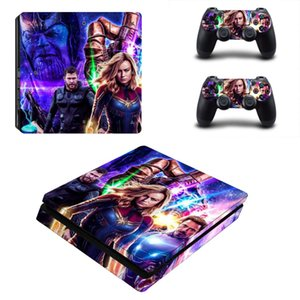 Avengers Endgame Iron Man PS4 Slim Skin Sticker Vinyl For PlayStation 4 Console and Controllers PS4 Slim Skin Stickers Decal