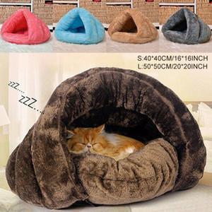 2019 mascota perro gato triángulo cama casa caliente suave estera ropa de cama cueva cesta kennel lavable nido y200330