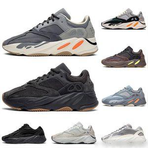 2019 Nova Ímã do corredor da onda 700 Kanye West Outdoor Shoes Homens Mulheres 700 V2 Inércia Hospital azul Vanta Utility Preto Designer Shoes Sneakers