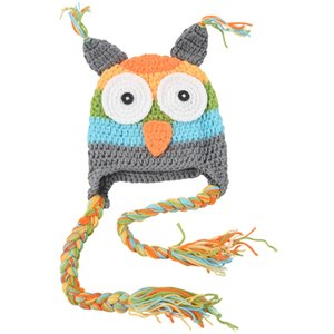 6-18 Months Newborn Baby Infant Child Knitting Crochet Photo Support Owl Costume Hat Gray Pet Supplies Home Garden