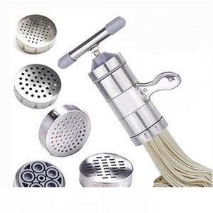 Aço inoxidável Pasta Noodle Criador Máquina Manual Imprensa fresco home Spaghetti Máquina Cozinha pastelaria Noddle Fazer Cozinhar Ferramentas