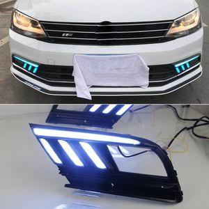1 LED paire Feux de jour DRL et Streamer éteindre la lampe de brouillard signal pour Volkswagen Jetta MK7 Sagitar 2016 2017 2018