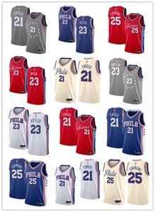 New Joel Embiid Jersey 2019 Philadelphia76ersMen Simmons Jimmy Butler Swingman Fanatics Branded Basketball Jersey Royal
