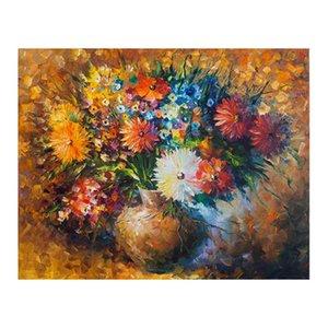 30x40 volle Blumen Einfacher europäischer Stil dekorative Malerei Restaurant 100% handpaintedoil gemalt europäischer Hintergrund Stillleben Öl Schmerz