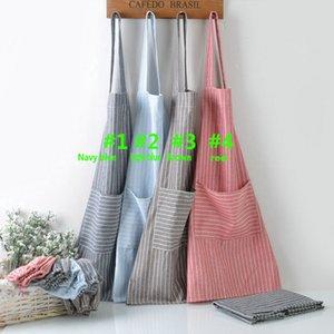 Cepler Ile ayarlanabilir Ekose Şerit Önlük Mutfak Pişirme Apron Craft Pişirme Temizleme Aracı 5 Renkler DHL HH9-2096