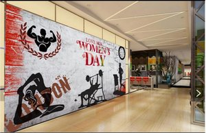 WDBH 3d wallpaer custom photo Nostalgic retro sports gym tooling tv background on the wall home decor living room wallpaper for walls 3 d