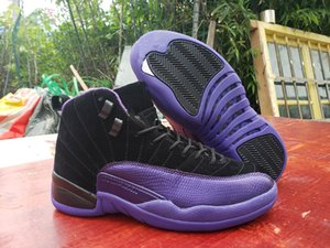 Günstige Männer Basketball-Schuhe 12 XII dunkle Concord Reverse-Flu Spielentwerfer Sport Sneakers 12s Varsity Rot Schwarz Lila Herren Sporttrainer