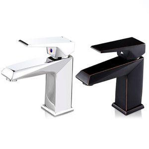 Black Silver Bathroom Faucet Copper Sink Faucet Hot and Cold Bathroom Faucet 94PC
