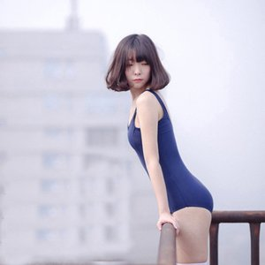 Japanese School Sukumizu Swimwear Costume Cosplay Bikini Costume intero Bikini donna Suit Top Swim Wear Q190513