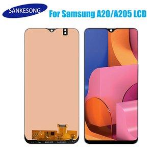 Samsung Galaxy A20 A205 ekran parçaları için Hücre İçi Suya yüksek kaliteli LCD ekran sayısallaştırıcı montaj siyah dokunmatik ekran