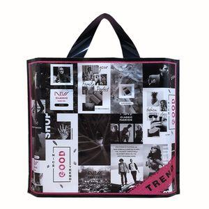 OC أزياء كيس من البلاستيك مخصص شعار نمط أكياس مستحضرات التجميل حمل حقيبة تسوق كبيرة الحجم التوصيل المجاني