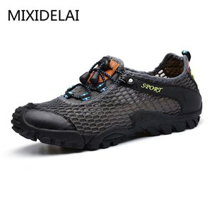 MIXIDELAI Männer Schuhe männliche zapatillas hombre lässig atmungs große Netz-elastisches Band lässig chaussure schuhe hommes