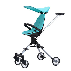 높은 프리 베이비 유모차 어린이 트롤리 Foldable 아기 캐리지 경량 양방향 유치원 Triciclo Infantil 유모차